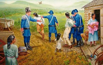 The Trail of Tears false arrest/imprisonment of males.