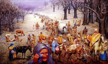 Painting of the Trail of Tears by Max D. Stanley