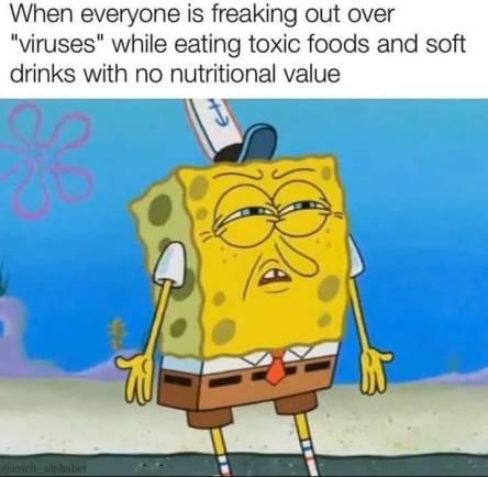 sponge bob crappy food