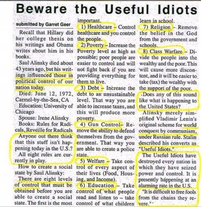 Alinsky Rules for Radicals