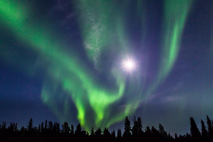 Northern-Lights-and-full-moon-Yukon-1 - Nicholas Dory