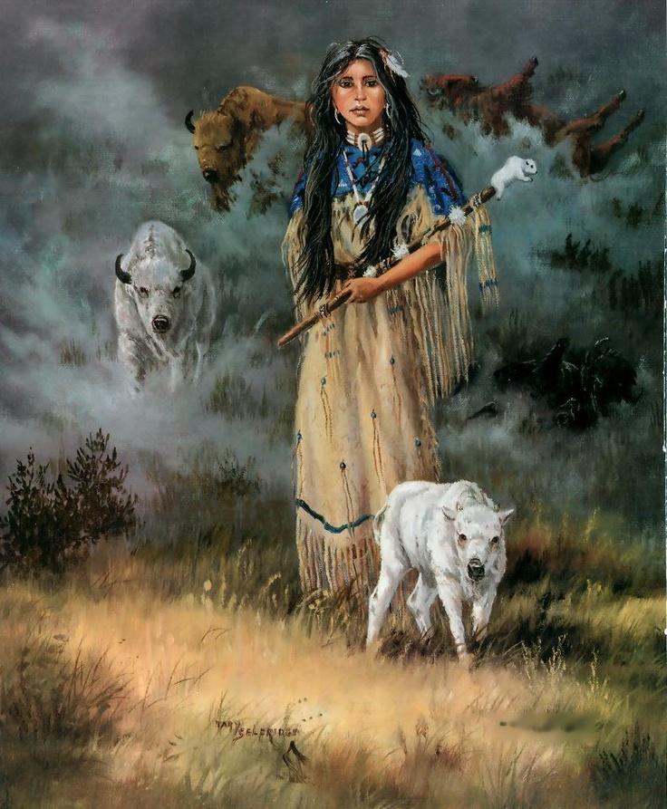 white buffalo calf woman with sacred pipe