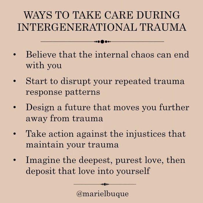 Intergenerational Trauma Healing
