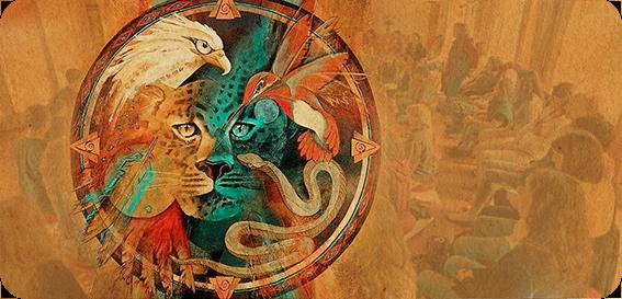Eagle & Jaguar Medicine Wheel
