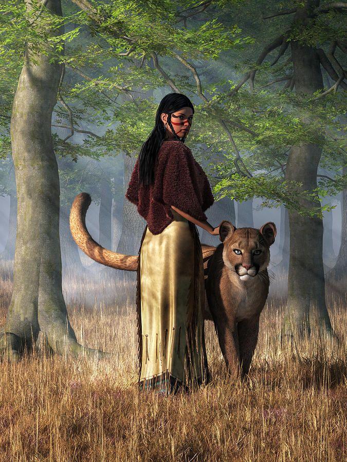 Mountain Lion Woman