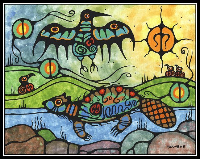 "Artist: Ayla Bouvette ""Beaver with Messenger"""